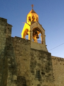 The bell tower on the Church of the Nativity, taken December 2, 2013.