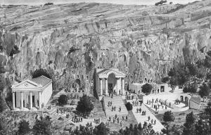 An artist's depiction of Caesarea Philippi in the time of Jesus